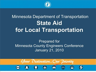 minnesota department of transportation state aid for local transportation   prepared for minnesota county engineers conf