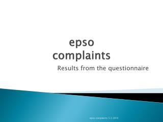 epso complaints