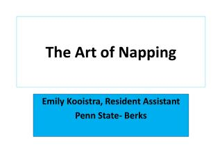 The Art of Napping