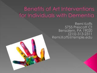 Benefits of Art Interventions for Individuals with Dementia