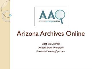 Arizona Archives Online