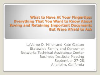 What to Have At Your Fingertips: Everything That You Want to Know About Saving and Retaining Important Documents But We