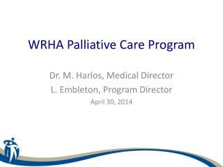 WRHA Palliative Care Program
