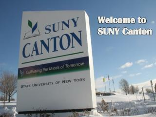 Welcome to SUNY Canton