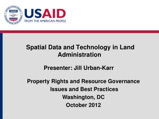 S patial  Data and Technology in Land Administration