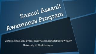 Sexual Assault Awareness Program