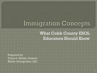 Immigration Concepts