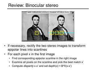 Review: Binocular stereo