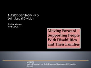 Moving Forward Supporting People With Disabilities and Their Families