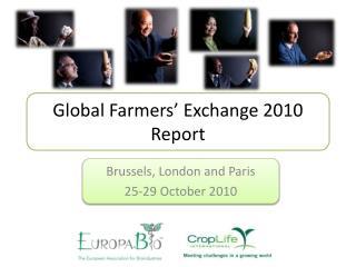 Global Farmers' Exchange 2010 Report