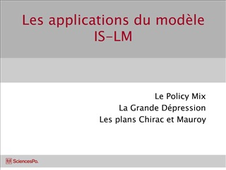 les applications du mod le is-lm