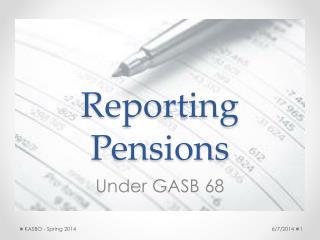 Reporting Pensions