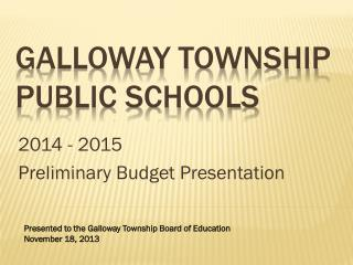 Galloway Township Public Schools