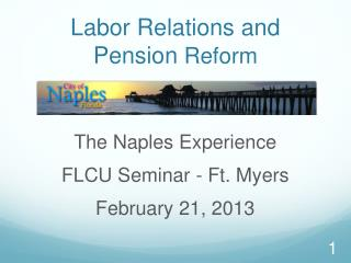 Labor Relations and Pension  Reform