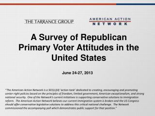 A Survey of  Republican Primary Voter  Attitudes in  the United States