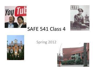 SAFE 541 Class 4