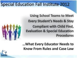Special Education Fall Institute 2012
