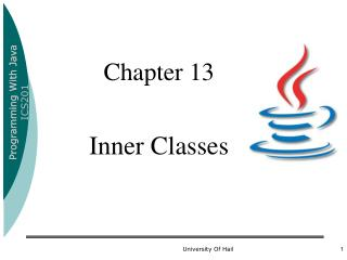 Chapter 13 Inner Classes