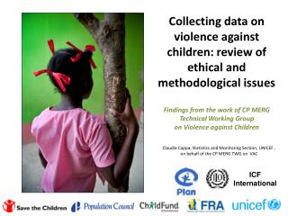 Claudia  Cappa, Statistics  and Monitoring  Section, UNICEF  , on behalf of the CP MERG TWG on  VAC