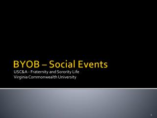 BYOB – Social Events