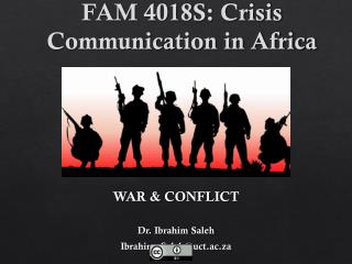 FAM 4018S: Crisis Communication in Africa