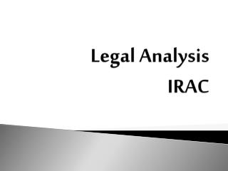 Legal Analysis IRAC