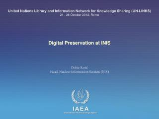 Digital Preservation at INIS