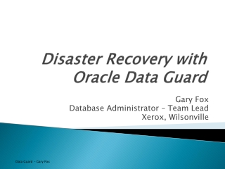 oracle data guard technical overview data availability  disaster protection