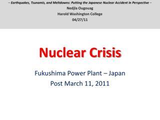 Nuclear Crisis