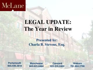 LEGAL UPDATE: The Year in Review