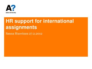 HR support for international assignments