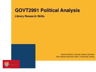 GOVT2991 Political Analysis