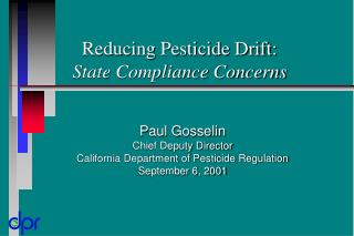 reducing pesticide drift: state compliance concerns
