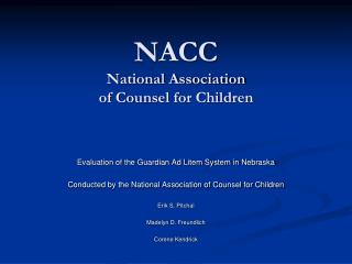NACC          National Association of Counsel for Children