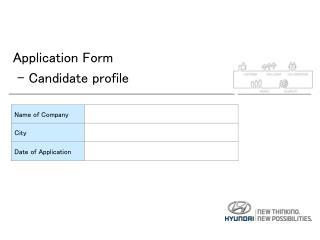 Application Form  - Candidate  profile
