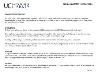 Design  Charrette  – Instructions