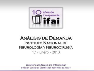 Análisis de  Demanda Instituto Nacional de Neurología y Neurocirugía