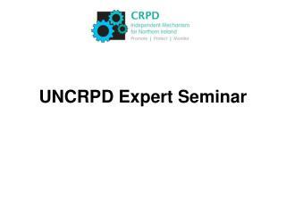 UNCRPD Expert Seminar