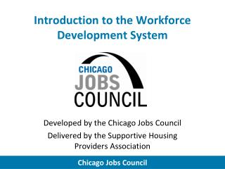 Introduction to the Workforce Development System