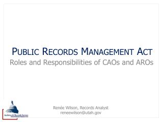 Public Records Management Act