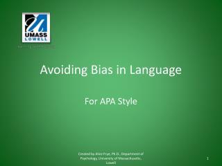 Avoiding Bias in Language