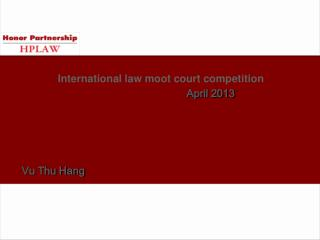 International law moot court competition