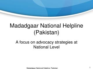 Madadgaar  National Helpline (Pakistan)