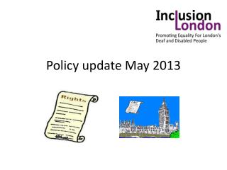 Policy update May 2013