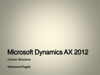 Microsoft Dynamics AX 2012