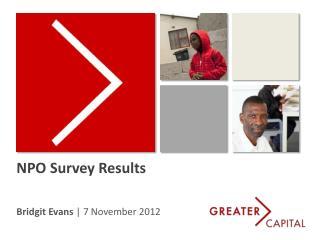 NPO Survey Results
