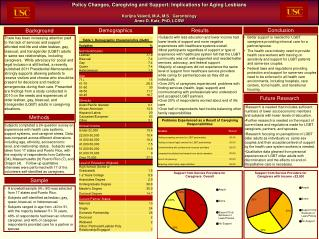 Policy Changes, Caregiving and Support: Implications for Aging Lesbians  Korijna Valenti, M.A, M.S.  Gerontology Anne D