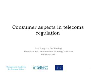 Consumer aspects in telecoms regulation