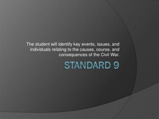Standard 9