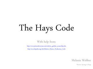 The Hays Code